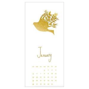 カレンダー 2020年 GOLD Design 壁掛け ボタニカル APJ 200×465mm モダン アート cinemacollection 02