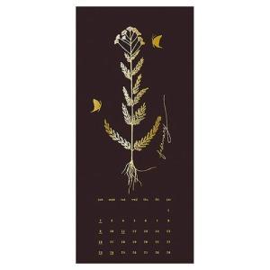 カレンダー 2020年 GOLD Design 壁掛け ボタニカル APJ 200×465mm モダン アート cinemacollection 03