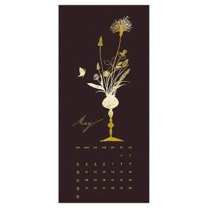 カレンダー 2020年 GOLD Design 壁掛け ボタニカル APJ 200×465mm モダン アート cinemacollection 05