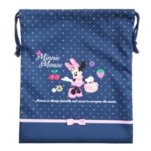 ミニーマウス 巾着袋 きんちゃくポーチ L 2020年新入学 ディズニー アートウエルド 29×35...