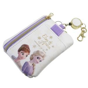 アナと雪の女王2 ディズニー グッズ ICカードケース & キーケース リール付きパス & キーポー...