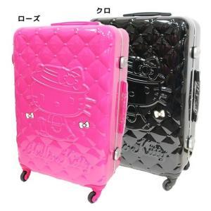 ハローキティ 66リットル サンリオ 海外旅行 バッグ スーツケース キャラクター グッズ アートウエルド キルティング柄|cinemacollection