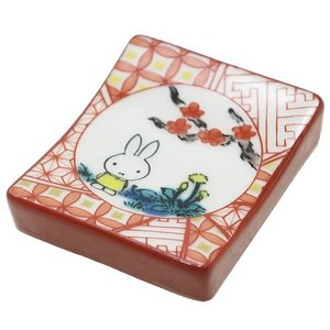 箸置き ミッフィー 九谷焼 赤絵 ディックブルーナ 金正陶器 和食器 ギフト雑貨 絵本キャラクター