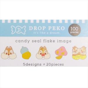 チップ&デール DROP PEKO フレークシール クラックス グッズ ミニステッカー 5柄各23枚|cinemacollection|02