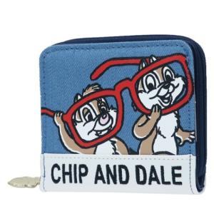チップ&デール グッズ 二つ折り財布 ジュニア デニム ディズニー キャラクター|cinemacollection