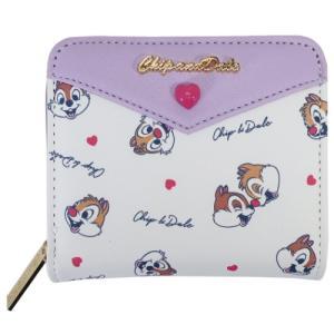 チップ&デール ジュニア ウォレット 二つ折り財布 ハートちらし ディズニー クラックス ティーンズ