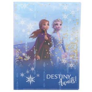 アナと雪の女王 2 ディズニー グッズ ポケットファイル スパンコール Wポケット A4 クリアファイル アナ&エルサ デルフィーノ|cinemacollection