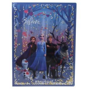 アナと雪の女王 2 ポケットファイル スパンコール Wポケット A4 クリアファイル 集合 ディズニー デルフィーノ|cinemacollection