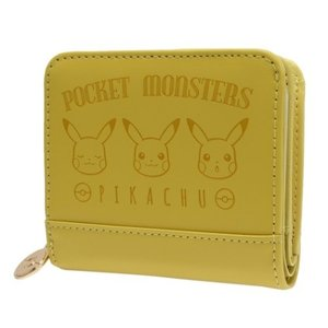 ポケットモンスター 二つ折り財布 ジュニアウォレット ピカチュウ横並び型押し ポケモン グッズ