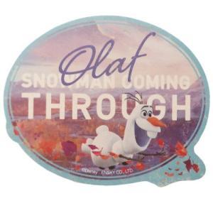 アナと雪の女王2 ディズニー グッズ トラベル ステッカー ビッグ シール 3オラフ エンスカイ|cinemacollection