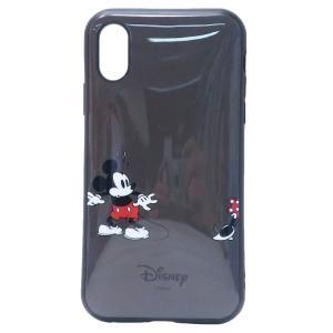 「メール便可」「iPhone X」 iPhone XR ケース ミッキー ブラック アイフォン XR...