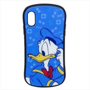 「iPhoneX/XS/XR/XSMaxケース」 アイフォン ハイブリッド ガラス ケース ドナルド...