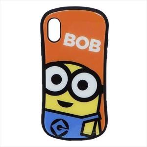 f0449555f6 ミニオン iPhone Xs ケース アイフォン ハイブリッド ガラス ケース グルマンディーズ ボブ グッズ カード ポケット付き スマホ  アクセサリー