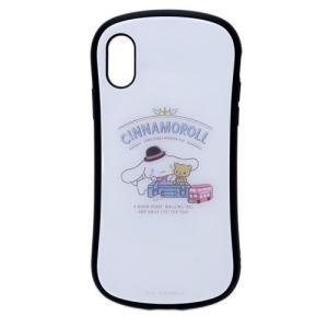 iPhoneXSケース シナモロール アイフォンXs ICカードポケット内蔵ハイブリッドガラスケース...