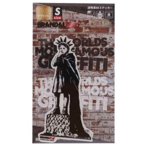 バンクシー ビッグ シール ダイカット クリア ステッカー Liberty Girl Banksy ...