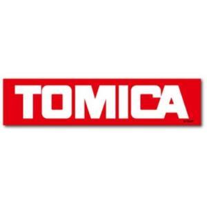 トミカ ロゴ ステッカー ビッグ シール 赤 TOMICA グッズ キャラクター ゼネラルステッカー 14.5×3.4cm|cinemacollection