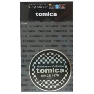 TOMICA ビニール ステッカー ビッグ シール シルバーチェック 大人トミカ ゼネラルステッカー 耐水耐光仕様|cinemacollection