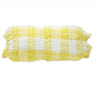 大人用枕カバー コッフルタオルプラス もこもこタオルまくらカバー イエロー 犬飼タオル