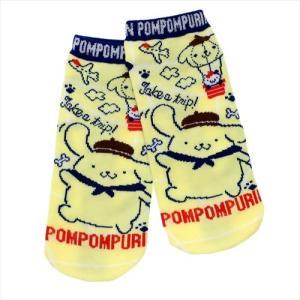 ポムポムプリン レディースソックス トリップ サンリオ 女性用靴下 キャラクター グッズ ジェイズプランニング かわいい|cinemacollection
