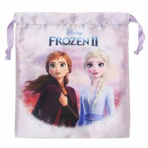 アナと雪の女王 2 巾着袋 サテン きんちゃくポーチ アナ&エルサ ディズニー ケイカンパニー 18×20.6cm|cinemacollection