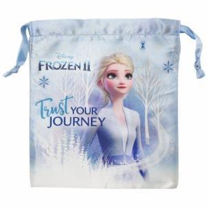 アナと雪の女王 2 グッズ 巾着袋 サテン きんちゃくポーチ エルサ ディズニー キャラクター|cinemacollection