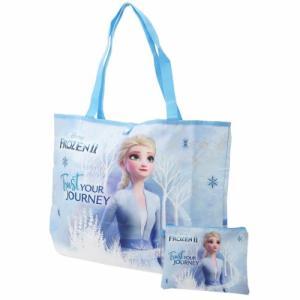 エコバッグ アナと雪の女王 2 折りたたみ ショッピングバッグ ディズニー エルサ 49×35.5×13.5cm お買い物かばん|cinemacollection