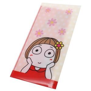 キキぷり ミニ クリアファイル チケットホルダー レッド はな子 ケイカンパニー じーっ cinemacollection 02