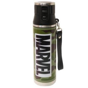 保冷専用 水筒 MARVEL マーベル ワンプッシュ ステンレスボトル BOXロゴ スケーター 800ml|cinemacollection|06