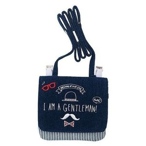 ショルダーひも付き クリップポケット I AM A GENTLEMAN Dカン付き どこでもポッケ  カミオジャパン 14×13cm キッズポシェット かわいい グッズ 通販|cinemacollection