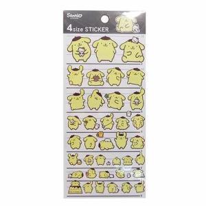 ポムポムプリン シール 4サイズステッカー 14641 サンリオ sanrio カミオジャパン 可愛い デコステッカー キャラクターグッズ|cinemacollection