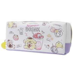 ポムポムプリン BOX ペンケース 筆箱 タピオカドリンクシリーズ サンリオ カミオジャパン|cinemacollection