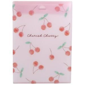 ルーズリーフケース 抗菌 ファイル CHERISH CHERRY 2ポケット式 カミオジャパン 新学期準備文具|キャラクターのシネマコレクション