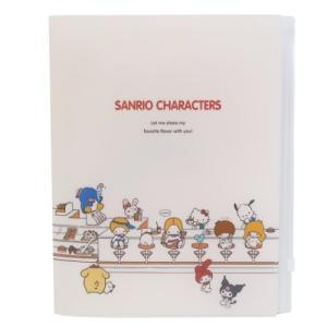 サンリオキャラクターズ ファイル ジップファスナー付 6ポケット A4 クリアファイル ダイナー サ...