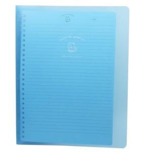 ルーズリーフ ノート スリムセット バインダー ジューシーなシバイヌ ブルー カミオジャパン 21.5×27.1×2cm|キャラクターのシネマコレクション