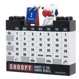 「万年カレンダー」 スヌーピー カレンダー ブロック 万年カレンダー マリモクラフト モノクロ グッ...