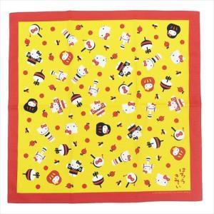 ハローキティ 風呂敷 和のおもちゃ サンリオ 大判ハンカチ キャラクター グッズ 丸眞 70×70cm|cinemacollection