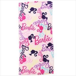 Barbie バービー人形 フェイスタオル ロングタオル 2枚セット 丸眞 ピンキッシュロゴ グッズ 34×75cm お買い得|cinemacollection