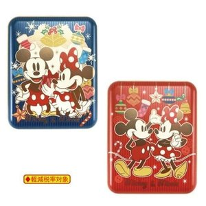 クリスマス お菓子 ディズニー グッズ ミッキー & ミニー 角缶 in ソフト チョコレート ハー...