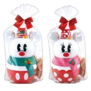クリスマス お菓子 ミッキー & ミニー スノーマンバンク in クランチ チョコレート ディズニー...
