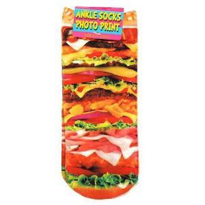 かわいい靴下 HAMBURGER ハンバーガー フォトアンクルソックス|cinemacollection