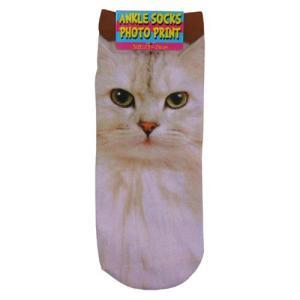 ネコ CAT フォトアンクルソックス かわいい靴下|cinemacollection