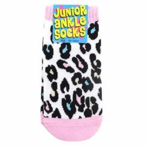 子供靴下 LEOPARD MULTI ヒョウ柄 ジュニアアンクルソックス 18〜22cm かわいい子供用靴下 メール便可|cinemacollection