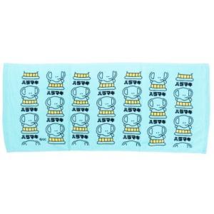 フェイスタオル おえかきシリーズ プリント ロングタオル ハラマキ プレゼント おもしろ雑貨