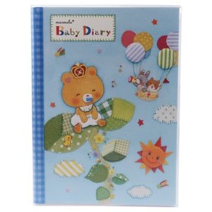 marumelo マルメロ B5サイズ 育児日記 赤ちゃん用品 グッズ ベビー ダイアリー SUKU-SUKU Bear|キャラクターのシネマコレクション