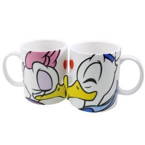 ドナルド&デイジー グッズ キス ペアマグカップ2個セット ディズニー Disney|cinemacollection