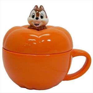 かぼちゃスープカップ チップ&デール ふた付きマグカップ ディズニー Chip ギフト食器 グッズ cinemacollection