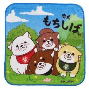 「メール便可」「ハンドタオル」 犬 忠犬もちしば ミニタオル はんかち タオル 集合 キャラクター ...
