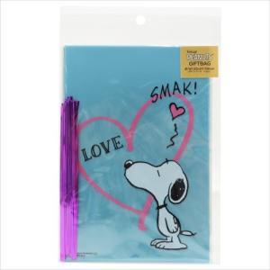 ラッピング用品 スヌーピー ギフト袋&ワイヤータイL 10セット S&Cコーポレーション SMAK グッズ 12×17cm プレゼント包装 キャラクター|cinemacollection