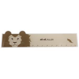 mimi RULER ライオン どうぶつ耳付き 定規 アニマル サカモトの商品画像|ナビ