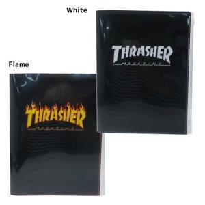 ファイル THRASHER スラッシャー ジップファスナー付 6ポケット A4 クリアファイル Vo...